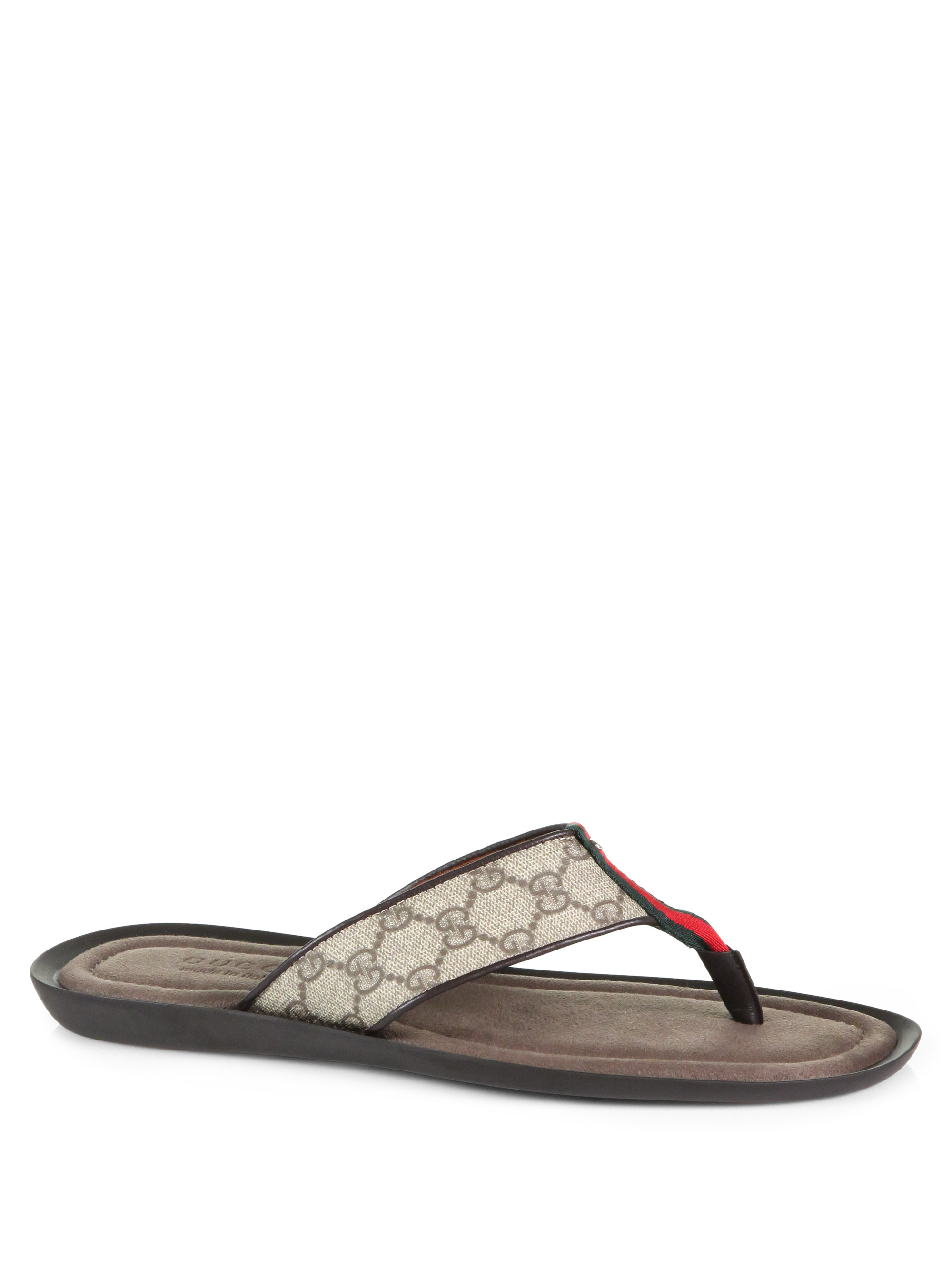 5864218ff06 Gucci Thong Sandal in Gray for Men - Lyst