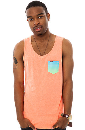 41e4099d41af6 Lyst - Hurley The Premium Pocket Knit Tank Top in Orange for Men