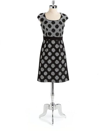 Kay Unger Polka Dot Dress - Lyst