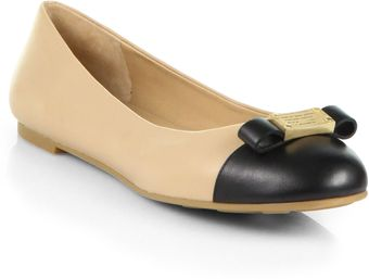 Marc By Marc Jacobs Tuxedo Leather Ballet Flats - Lyst