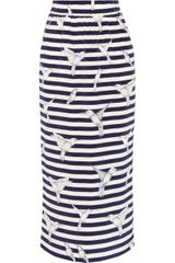 Mother Of Pearl Petra Printed Silk Crepe De Chine Midi Skirt - Lyst