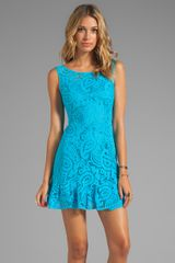 Nanette Lepore Mambo Lace Dress in Blue - Lyst
