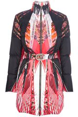 Roberto Cavalli Multicolor Long Down Jacket - Lyst