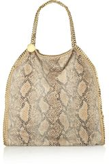 Stella McCartney The Falabella Faux Python Tote - Lyst