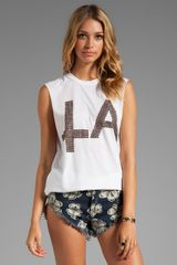 The Laundry Room Studs La Muscle Tee in White - Lyst