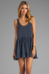 Tylie Mini Tank Dress in Navy - Lyst