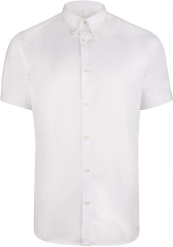 Alexander McQueen  Pitt Buttondown Short Sleeve Shirt - Lyst