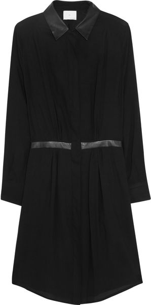 Band Of Outsiders Crepe Shirt Dress - Lyst