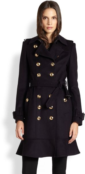 Burberry New Littleton Gold Button Trench - Lyst