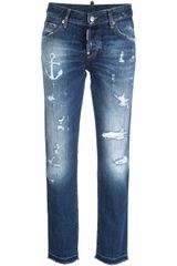 DSquared2 Distressed Slim Fit Jean - Lyst