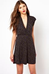 French Connection Tea Dress in Winter Diamond Print - Lyst