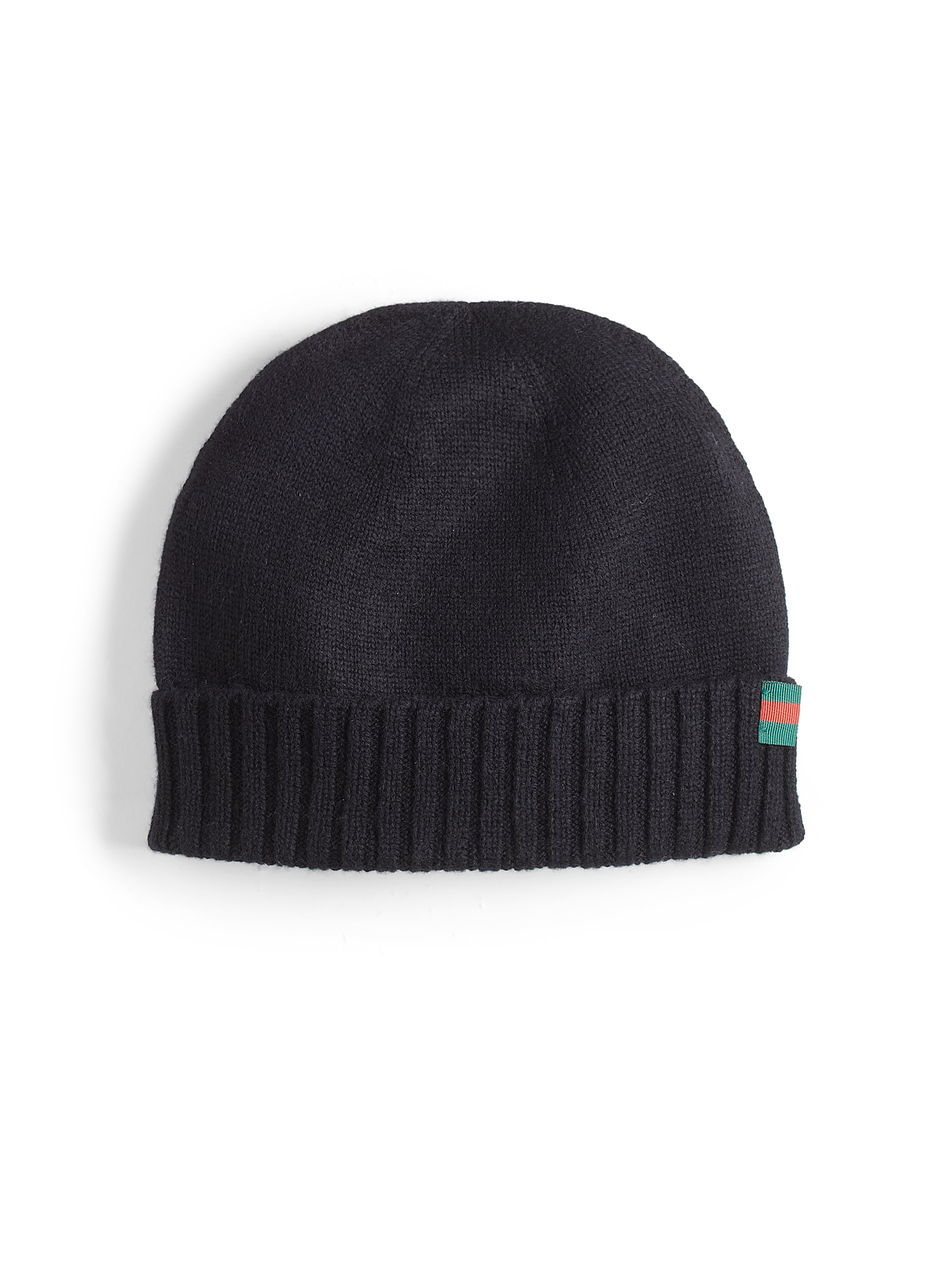 bb6590a4a51 Lyst - Gucci Knit Hat in Black for Men