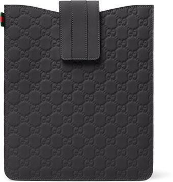 Gucci Rubberized Leather Ipad Sleeve - Lyst