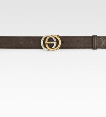 Gucci Interlocking G Buckle Belt - Lyst