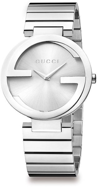 Gucci Stainless Steel Double G Link Bracelet Watch - Lyst