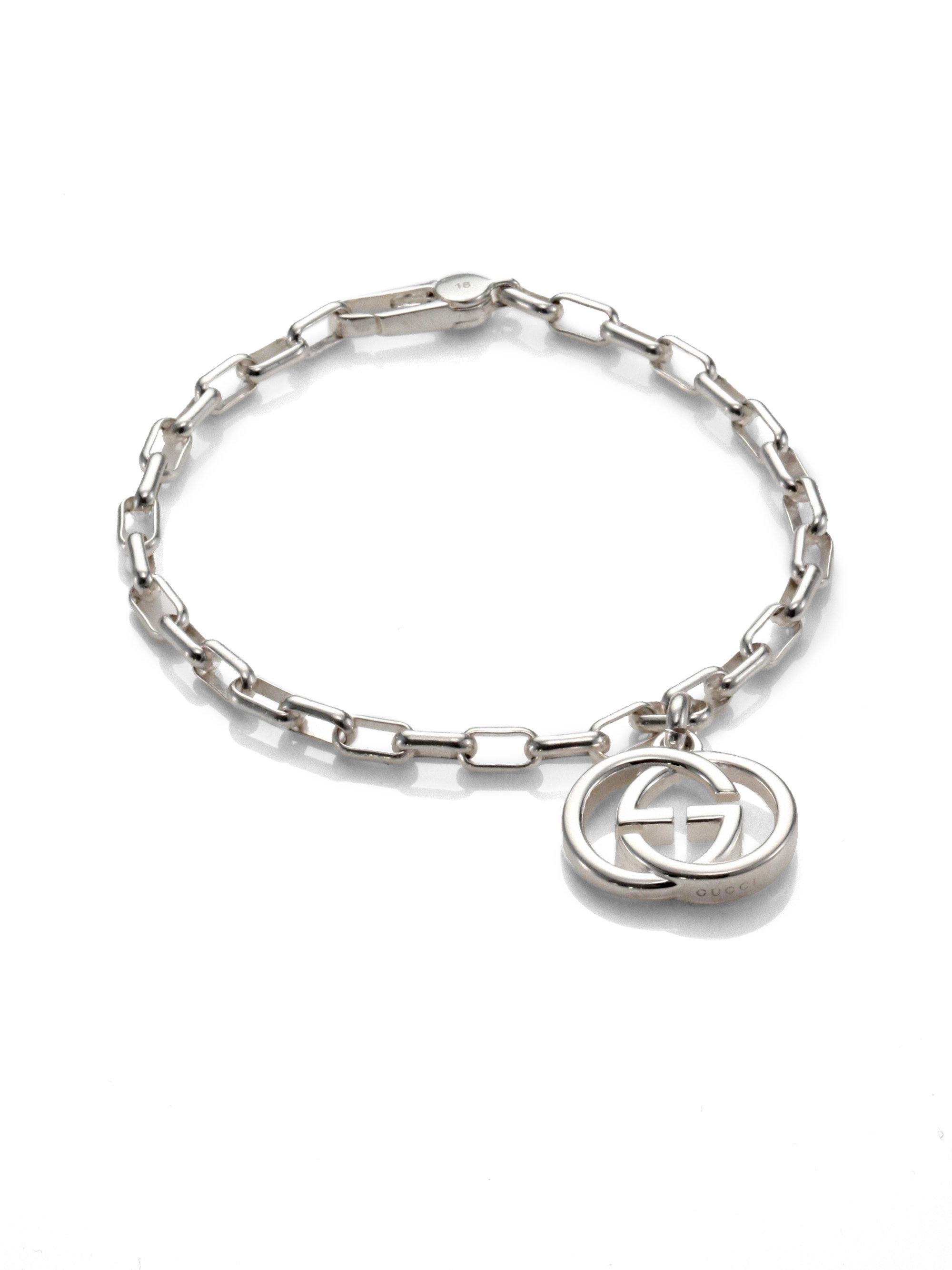 Gucci Interlocking G bracelet in silver - Metallic 9GQef7C