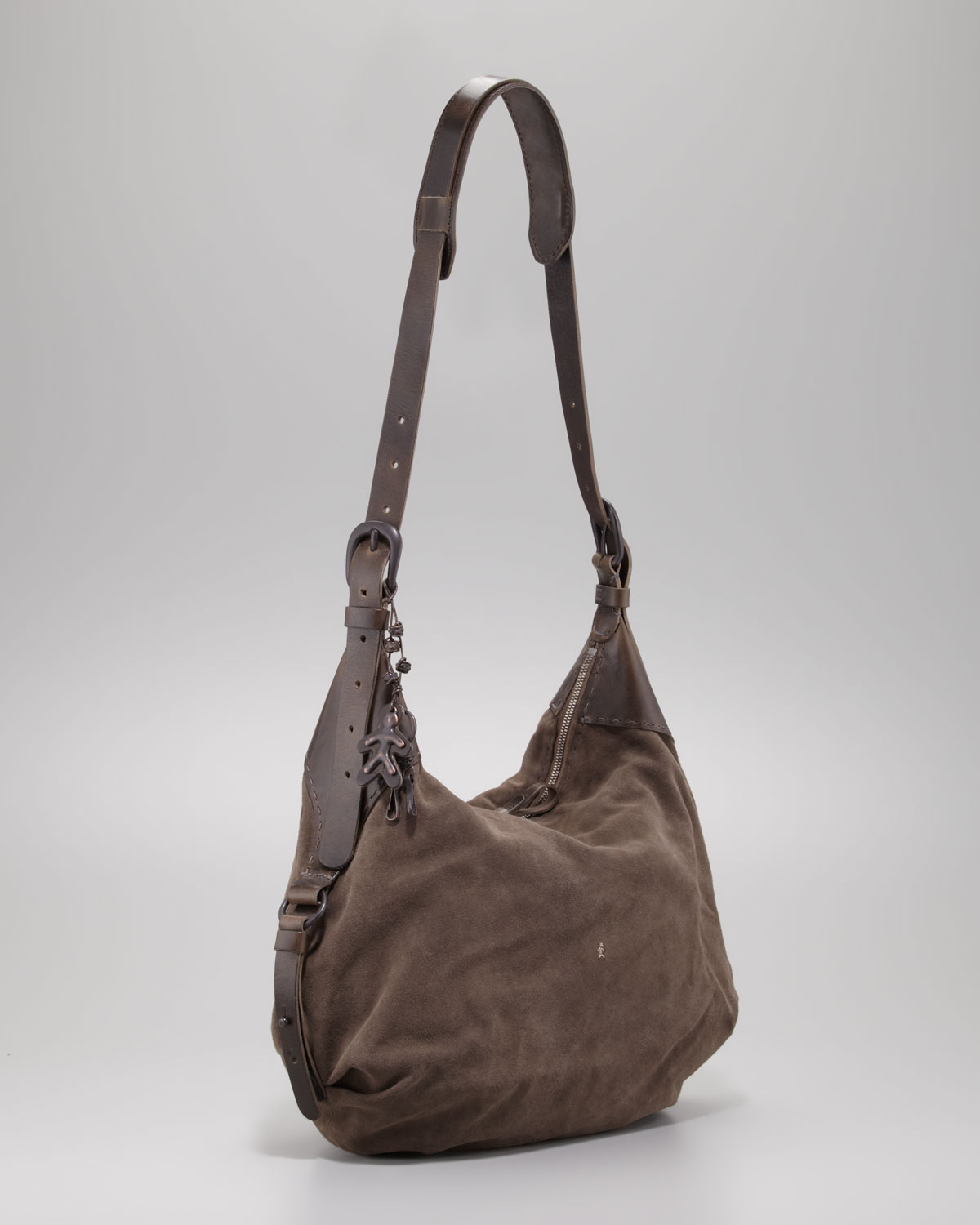 Henry beguelin Suede Messenger Bag Gray in Brown for Men | Lyst