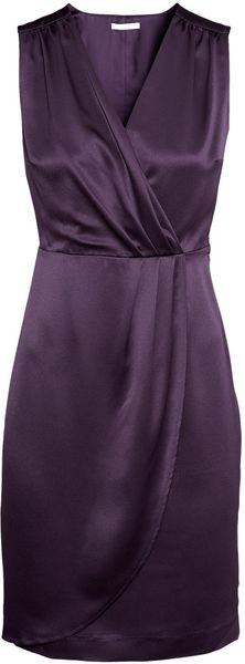 H&M Sleeveless Satin Dress - Lyst