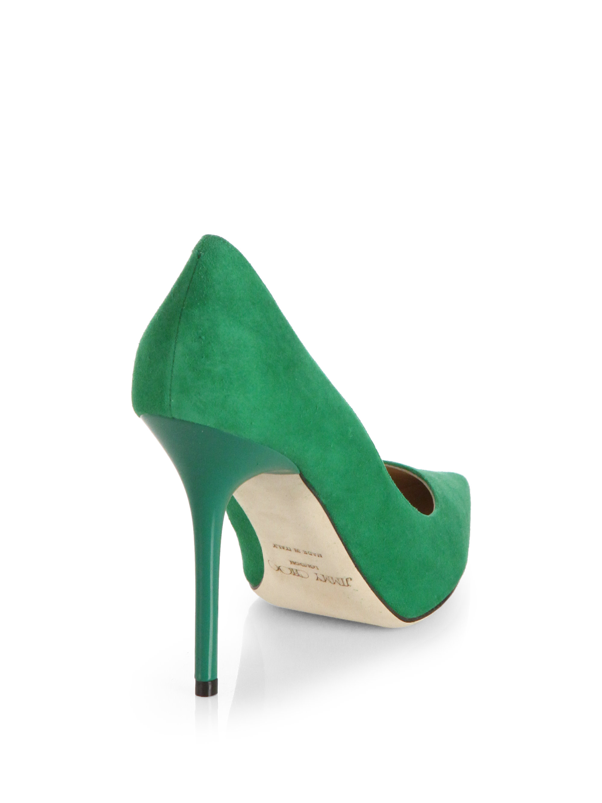f5bb53e41 Jimmy Choo Abel Suede Pumps in Green - Lyst