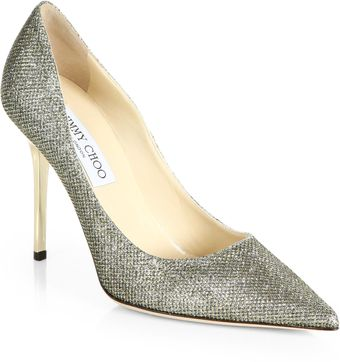 Jimmy Choo Abel Glitter Pumps - Lyst