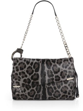 Jimmy Choo Ally Leopard print Calf Hair Handcuff Shoulder Bag - Lyst