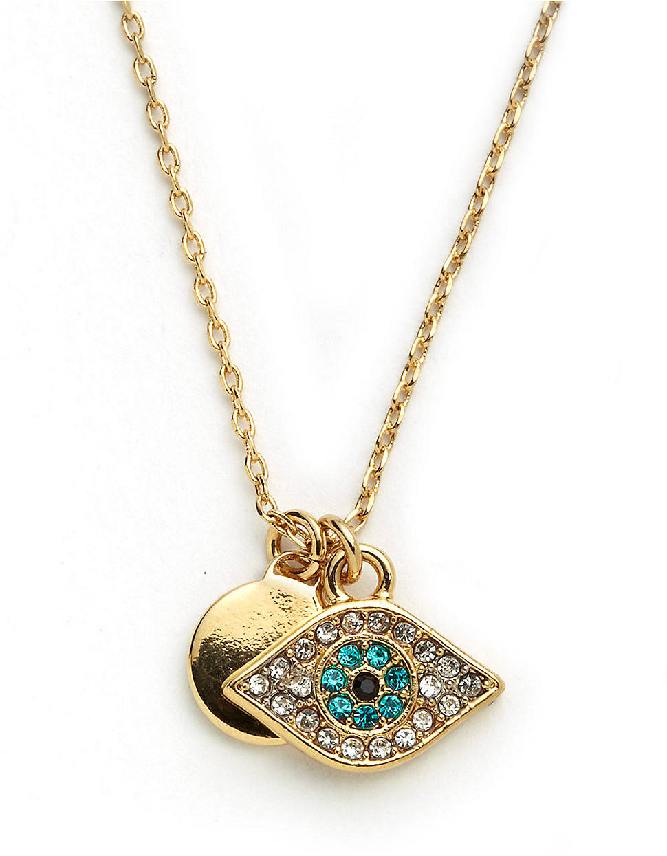 couture evil eye pendant necklace in gold lyst