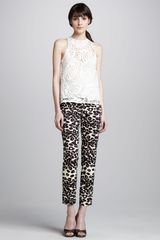 Nanette Lepore Cropped Animal-print Pants - Lyst