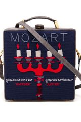 Olympia Le-Tan Mozart Embroidered Felt Box Clutch - Lyst