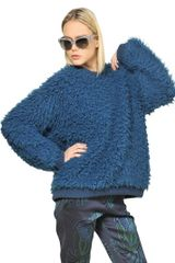 Stella McCartney Flurry Wool Knit Crewneck Sweater - Lyst