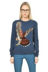 Stella McCartney Wool Knit Eagle Sweater - Lyst