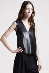 The Row Stretchleather Top - Lyst