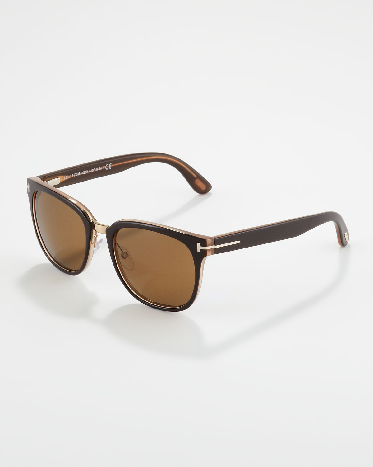 25617086356 Lyst - Tom Ford Rock Clubmaster Sunglasses in Brown for Men