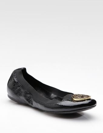 Tory Burch Patent Leather Ballet Flats - Lyst