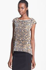 Tracy Reese Print Silk Blouse - Lyst