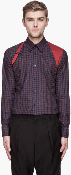 Alexander McQueen  Check Harness Shirt - Lyst