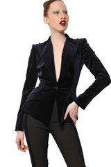 Antonio Berardi Cotton Velvet Fitted Jacket - Lyst