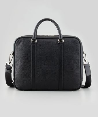 Bally Ziparound Leather Briefcase with Shoulder Strap - Lyst