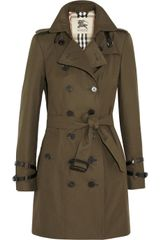 Burberry Midlength Cottongabardine Trench Coat - Lyst
