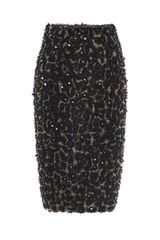 Burberry Prorsum Embellished Pencil Skirt - Lyst