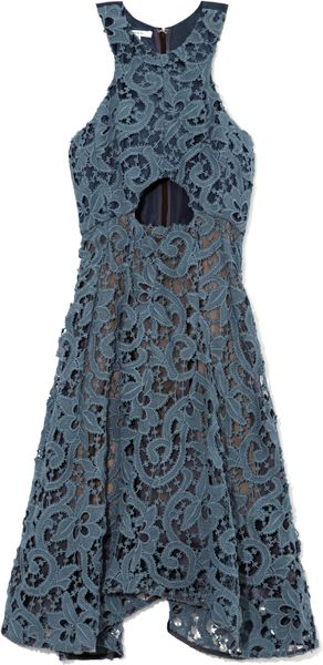 Carven Guipure Lace Cutout Dress - Lyst