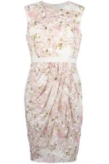 Giambattista Valli Floral Print Sleeveless Dress - Lyst