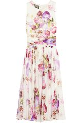 Giambattista Valli Floral Print Silk Chiffon Dress - Lyst