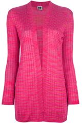 M Missoni Striped Knit Cardigan - Lyst
