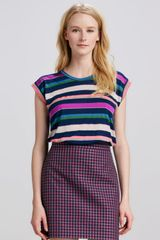 Marc By Marc Jacobs Striped Relaxed Jersey Top - Lyst