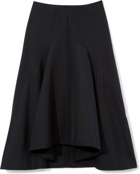 marni navy blue skirt in blue blue black lyst