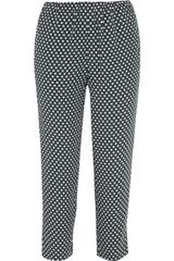 Marni Printed Crepe Tapered Pants - Lyst