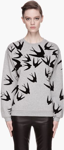 McQ by Alexander McQueen Heather Grey Swallow Sweatshirt - Lyst