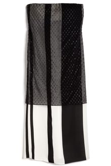 Narciso Rodriguez Bonded Silk Stripes Strapless Dress - Lyst