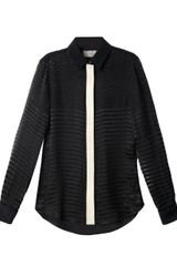 Preen Devore Stripe Panel Shirt - Lyst