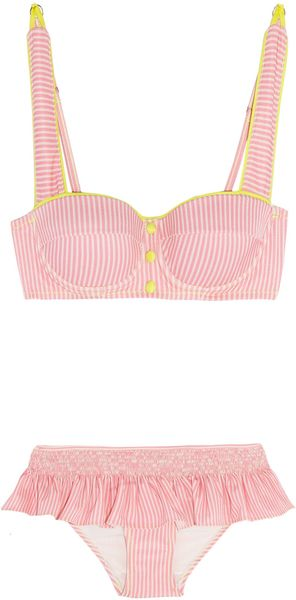 Rosamosario Lovers En Space Striped Bikini - Lyst